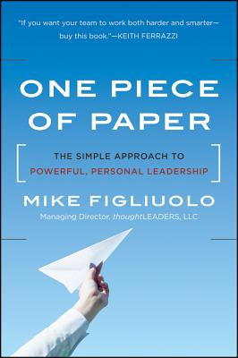 One Piece of Paper By Figliuolo, Mike
